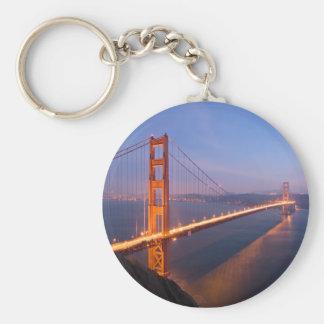 Golden Gate Bridge at Sunset keychain