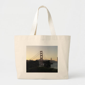 Golden Gate Bridge at Sunset Large Tote Bag