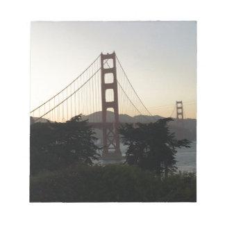 Golden Gate Bridge at Sunset Notepads