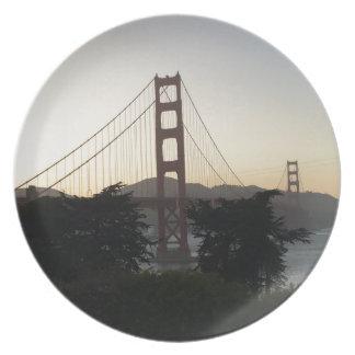Golden Gate Bridge at Sunset Plate