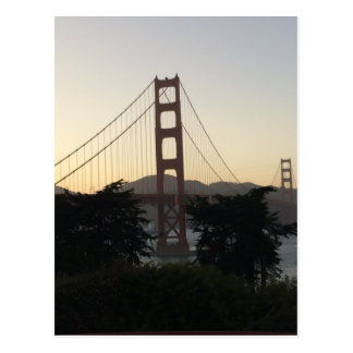 Golden Gate Bridge at Sunset Postcard