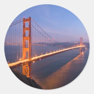 Golden Gate Bridge at Sunset stickers