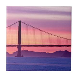 Golden Gate Bridge at Sunset Tiles