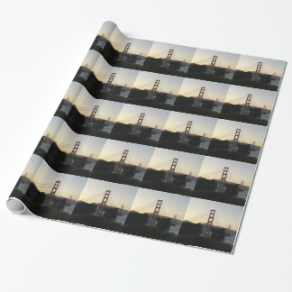 Golden Gate Bridge at Sunset Wrapping Paper