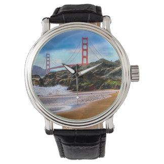 Golden Gate Bridge at sunset Wrist Watches