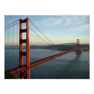 Golden gate bridge ate day poster