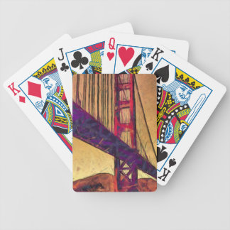 Golden gate bridge bicycle playing cards