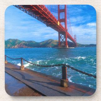 Golden Gate Bridge, California Beverage Coasters
