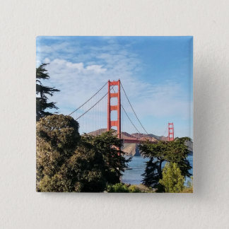 Golden Gate Bridge, California CA 2 Inch Square Button