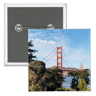 Golden Gate Bridge, California CA 2 Inch Square Button