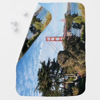 Golden Gate Bridge, California CA Baby Blanket