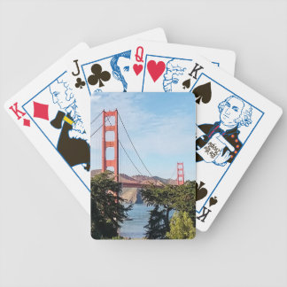 Golden Gate Bridge, California CA Bicycle Playing Cards