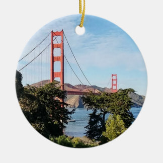 Golden Gate Bridge, California CA Ceramic Ornament
