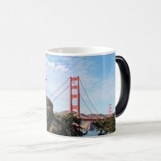 Golden Gate Bridge, California CA Magic Mug