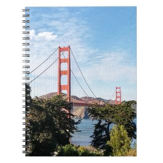 Golden Gate Bridge, California CA Note Books