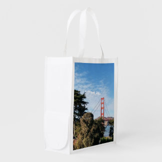 Golden Gate Bridge, California CA Reusable Grocery Bag