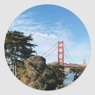 Golden Gate Bridge, California CA Round Sticker