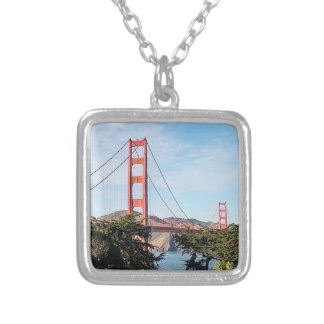 Golden Gate Bridge, California CA Silver Plated Necklace