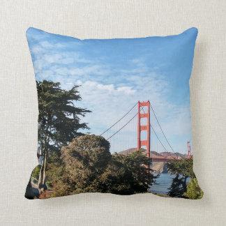 Golden Gate Bridge, California CA Throw Pillow
