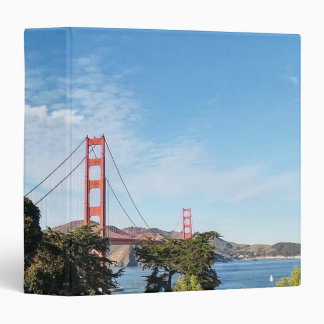 Golden Gate Bridge, California CA Vinyl Binders