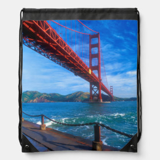 Golden Gate Bridge, California Drawstring Bag