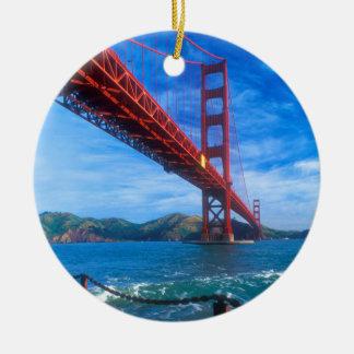 Golden Gate Bridge, California Round Ceramic Ornament