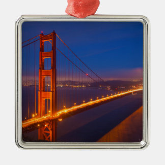 Golden Gate Bridge, California Silver-Colored Square Ornament