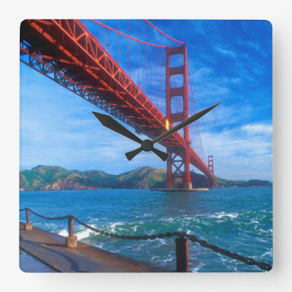 Golden Gate Bridge, California Square Wall Clock