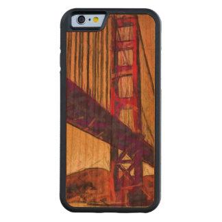 Golden gate bridge carved cherry iPhone 6 bumper case