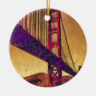 Golden gate bridge ceramic ornament
