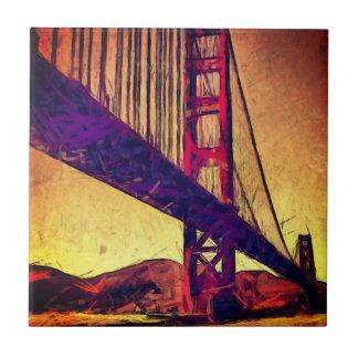 Golden gate bridge ceramic tile