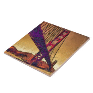 Golden gate bridge ceramic tiles