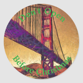 Golden gate bridge classic round sticker