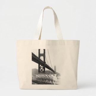 Golden Gate Bridge Dancers Large Tote Bag