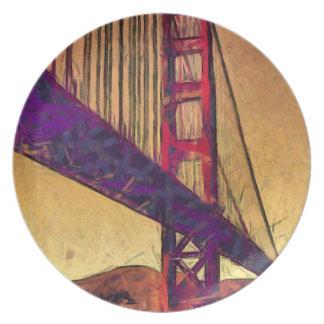 Golden gate bridge dinner plates