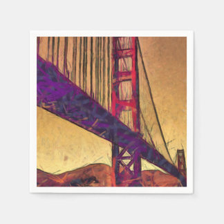 Golden gate bridge disposable napkins