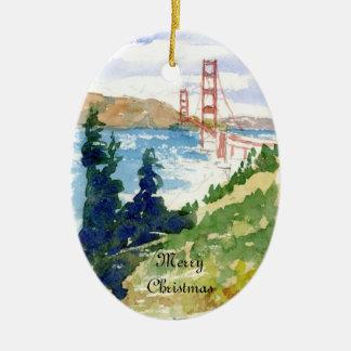 Golden Gate Bridge Double-Sided Ornament