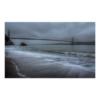 Golden Gate Bridge from Kirby Cove Beach Poster