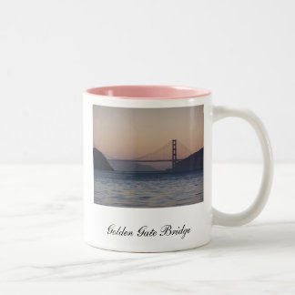 Golden Gate Bridge, Golden Gate Bridge, San Fra... Two-Tone Coffee Mug