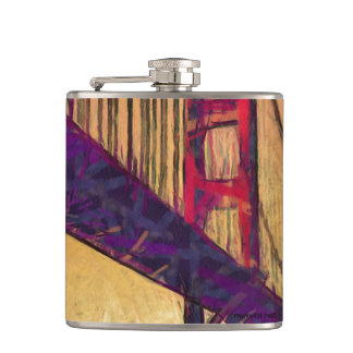 Golden gate bridge hip flask