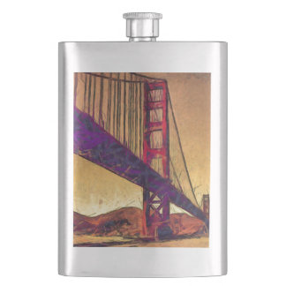 Golden gate bridge hip flask