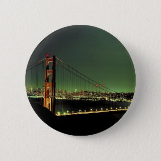 Golden Gate Bridge in Green 2 Inch Round Button