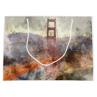 Golden Gate Bridge in San Francisco California Large Gift Bag