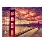 Golden Gate Bridge in San Francisco, California. Post Card
