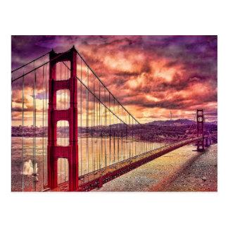 Golden Gate Bridge in San Francisco, California. Postcard