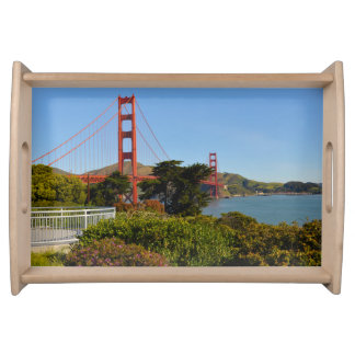 Golden Gate Bridge in San Francisco California Serving Tray