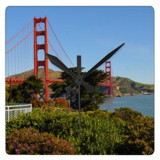 Golden Gate Bridge in San Francisco California Square Wall Clock