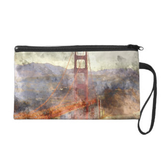 Golden Gate Bridge in San Francisco California Wristlet