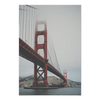 Golden Gate Bridge in the fog Poster