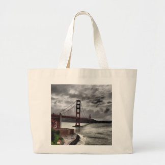 Golden Gate Bridge Large Tote Bag